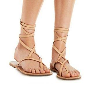 🌈NWOB Charlotte Russe Ankle Wrap Sandals Sz 7🌈